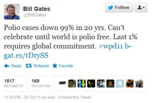 Tweet of Bill Gates